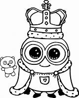 Coloring Cute Pages Minion sketch template