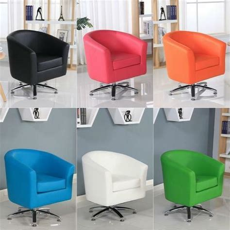 office tub designer leather swivel tub chair armchair dining living