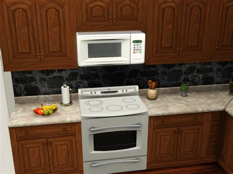 microwave over stove mod the sims above range microwave
