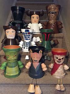 Star Wars Deko Basteln : star wars characters princess leia yoda chewbacca darth vader obi wan pot people basteln ~ Markanthonyermac.com Haus und Dekorationen