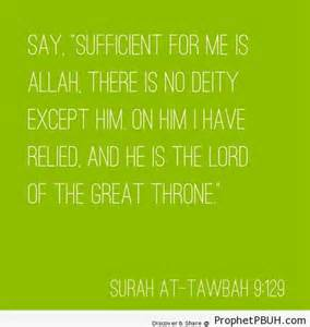 Sufficient for ... Allah Tawakkul Quotes