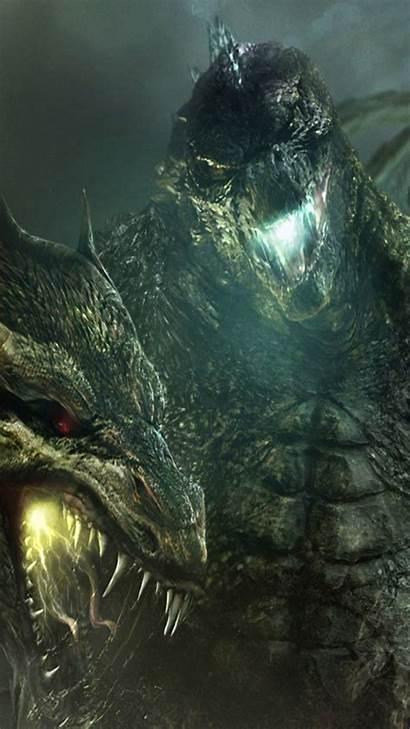 Godzilla King Monsters Wallpapers Desktop Ghidorah Iphone