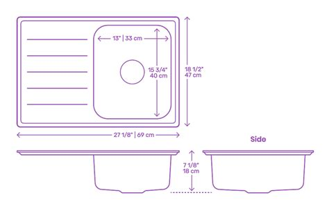 Sink Measurements - kitchen sinks dimensions drawings dimensions guide