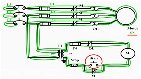 motor control circuit diagram start stop 3 wire control youtube