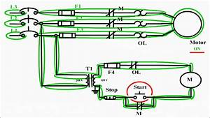 Motor Control Circuit Diagram    Start Stop 3 Wire Control