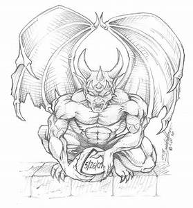 Gargoyle Tattoo Sketch Pictures to Pin on Pinterest ...
