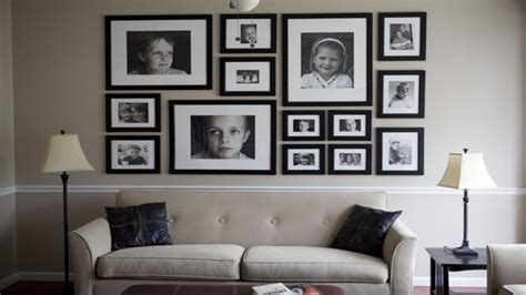 Ideas for large wall space, family picture wall