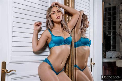 Alina Lopez Pornstar Latinas Women Satin Panties Bra Reflection Satin Bra