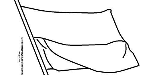 mewarnai gambar mewarnai gambar sketsa bendera merah putih 7