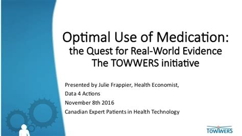 Optimal Use Of Medication The Quest For Realworld