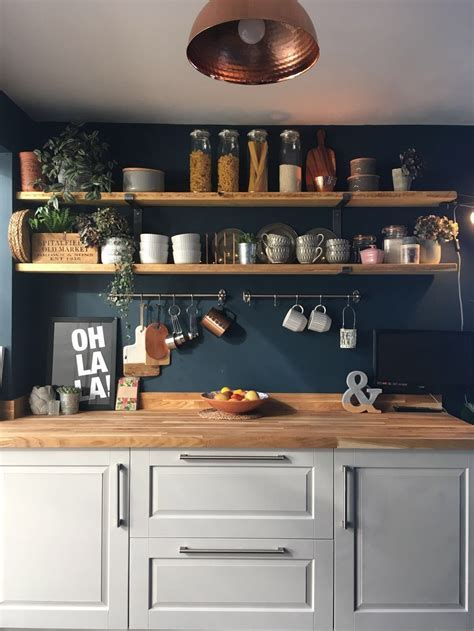 Dark blue walls  . What's not to love! ? HORNSBY STYLE