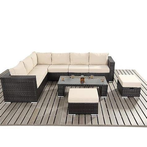 modern rattan corner sofa rattan stools  coffee table set garden rattan ebay