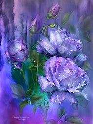 Lavender Raindrops On Roses