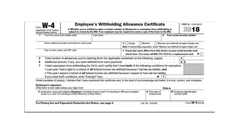 irs releases new 2018 w 4 form cpa practice advisor