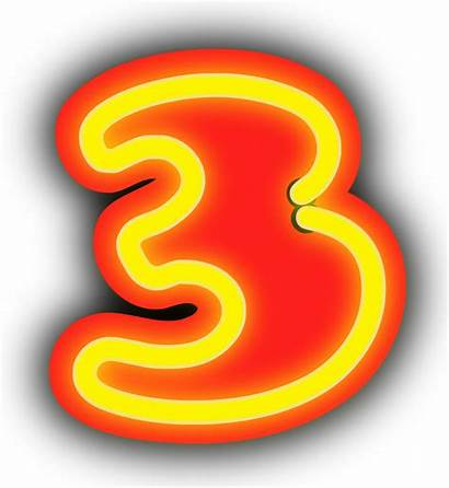 Neon Number Transparent Background Numerals Numeral Sign