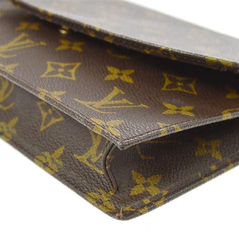 louis vuitton monogram mens womens envelope fold  evening flap clutch bag  sale  stdibs
