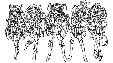 glitter force coloring page jpeg  coloring