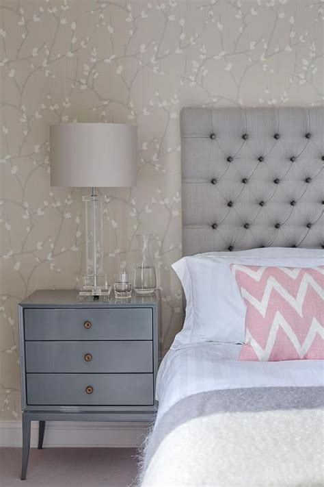 gray  blue bedroom features  accent wall clad