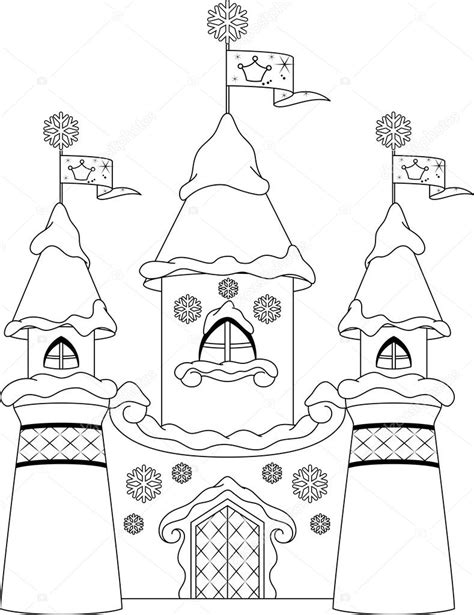 Kleurplaat Slot by Kasteel Kleurplaat Stockvector 169 Malyaka 54612951