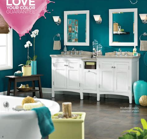 Lowes Bathroom Paint Colors by Lowes Valspar Paint Ad The Wall Color Is Teal 5010