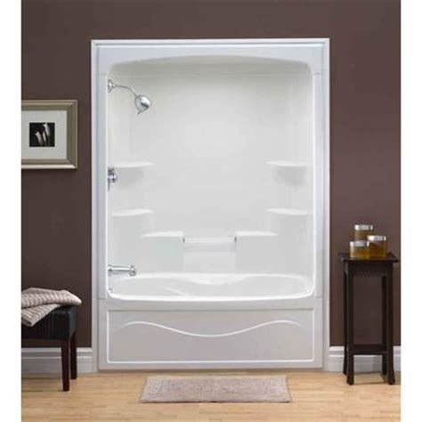 home depot shower enclosures prefab shower home depot mirolin liberty 60 inch 1 acrylic tub and shower
