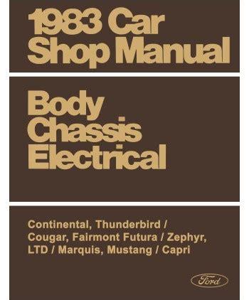 electric and cars manual 1983 ford thunderbird regenerative braking 1983 ford fairmont futura ltd mustang thunderbird