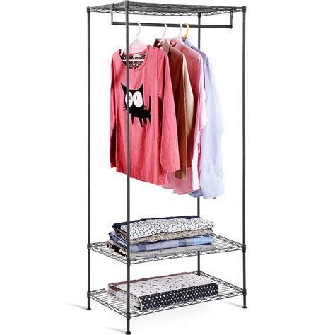 gymax  tier clothing garment rack hanger shelving wire