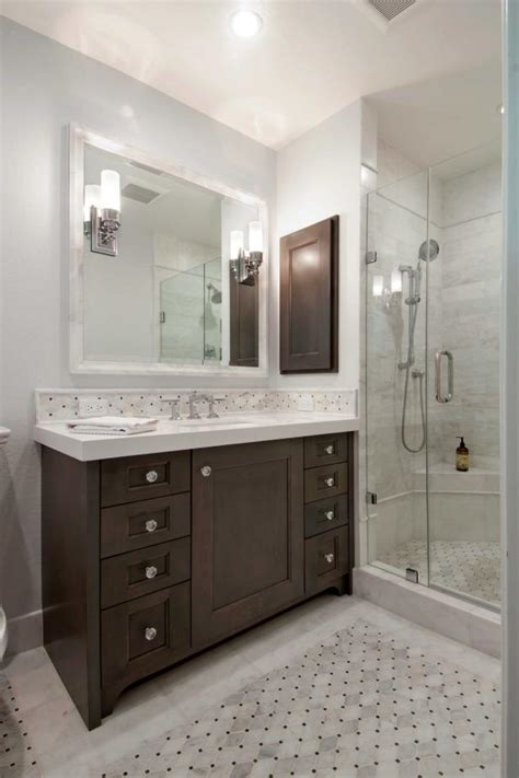 contemporary bathroom with open glass shower hgtv