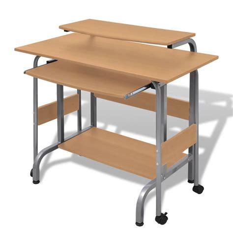 table pour ordinateur de bureau la boutique en ligne table de bureau réglable brun pour