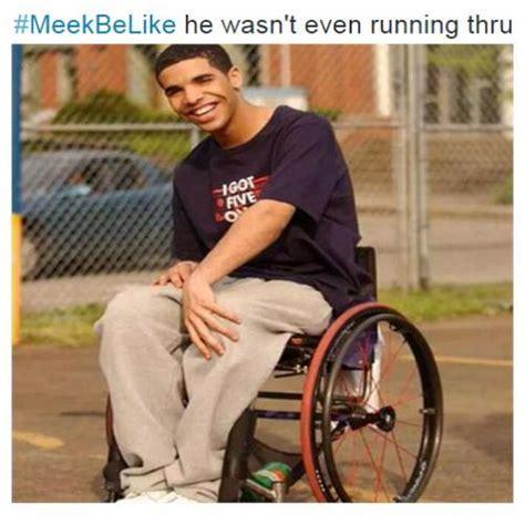 Wheelchair Jimmy Meme - meekbelike he wasn t even running thru the 6