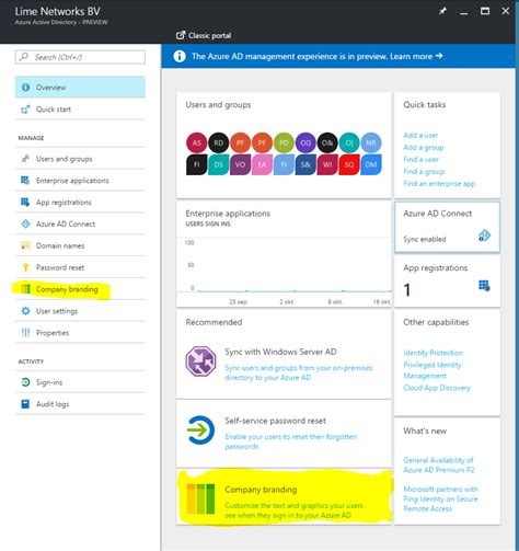 Office 365 Portal Azure by How To Brand Your Office 365 Portal Azure Portal