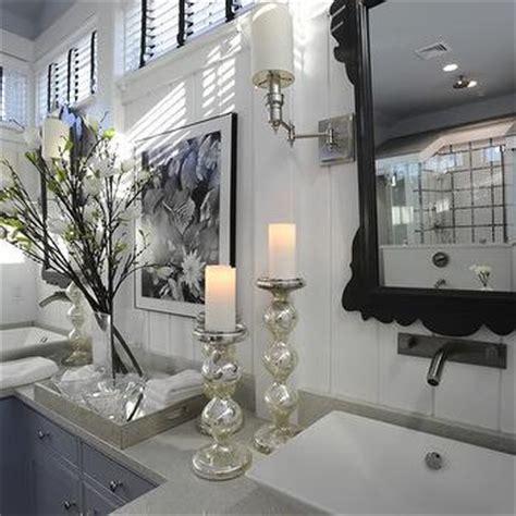 Blue Mercury Glass Bath Accessories by Shabby Chic Foyer Cottage Entrance Foyer