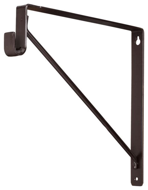 1530orb shelf and rod support bracket rubbed bronze