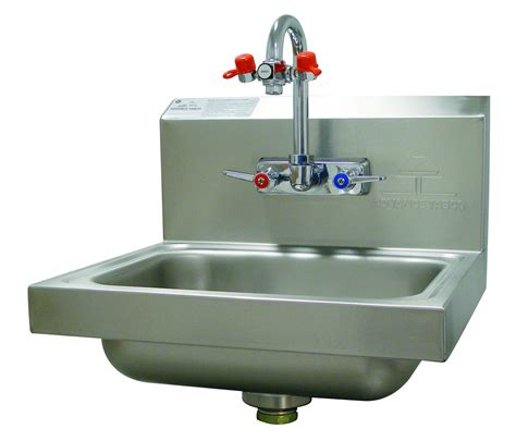 advance tabco 7 ps 55 wall mounted hand sink with eye wash