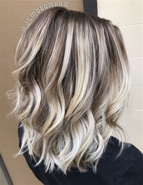 Cool Hair Highlights For Brown Hair by Hair Highlights Cool Icy Ashy Balayage Highlights