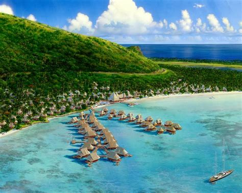 Wallpaper Beauty Of Nature Tahiti Islands Resort Is A