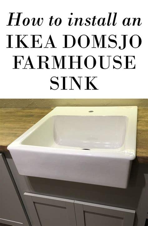how to install farmhouse sink domsjo ikea sink installation nazarm com