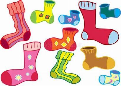 Socks Odd Cartoon Different Illustration Several Colored