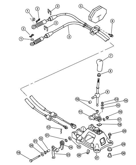 service manual install shift cable    chrysler