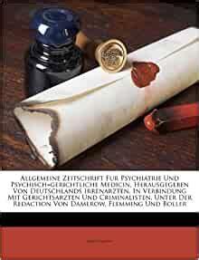 Allgemeine Zeitschrift Fur Psychiatrie Und Psychisch