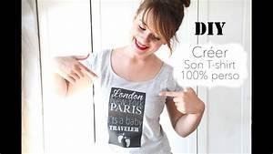 Créer Son Tee Shirt : diy cr er son t shirt personnalis id e cadeau youtube ~ Melissatoandfro.com Idées de Décoration