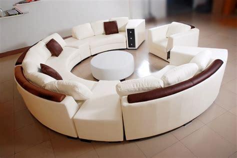 canape rond cuir canapé d 39 angle en cuir italien en rond design et pas cher
