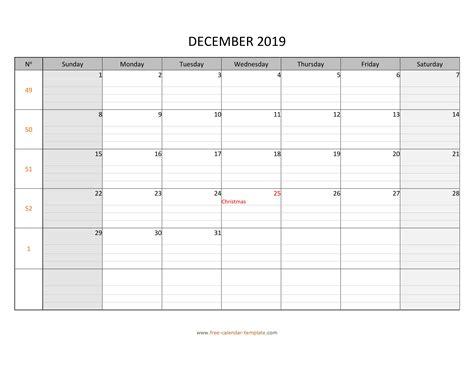 december   calendar tempplate  calendar