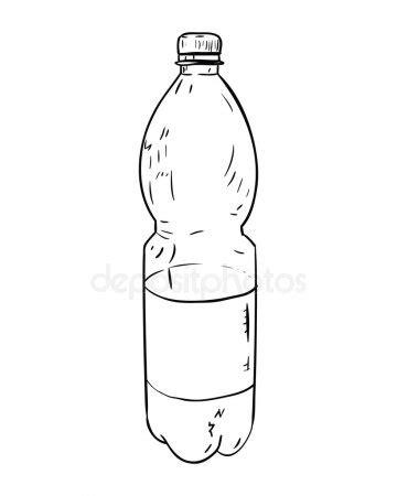 Dibujo de botella de plástico Archivo Imágenes Vectoriales © BeatWalk