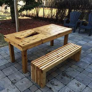 Ana White DIY Patio Table & Bench - DIY Projects