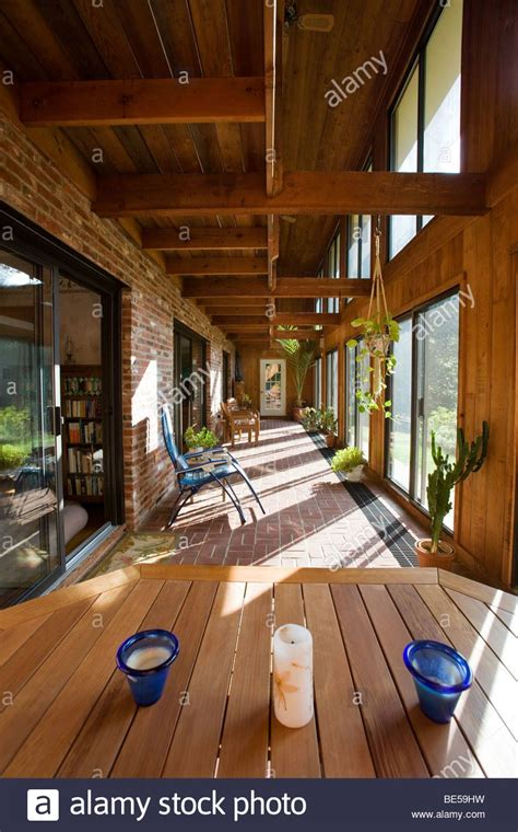 Add Solarium To House by Interior View Of The Atrium Solarium In A Passive Solar