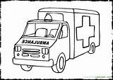 Ambulance Coloring Driver Template Printable Getcolorings sketch template