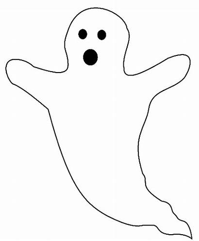 Ghost Halloween Coloring Pages Templates Printable Sheets