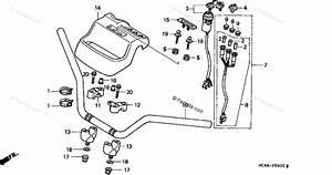 Honda Atv 1994 Oem Parts Diagram For Handlebar