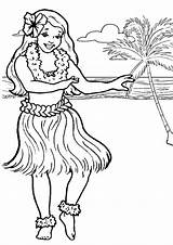 Hula Coloring Pages Hawaiian Getcoloringpages Hoop Minnie Mouse Shortcake Strawberry sketch template